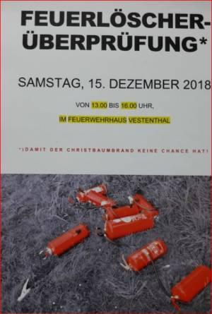 Feuerlöscherüberprüfung 2018